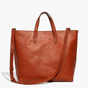 Madewell Zip-Top Transport Carryall, English Saddl